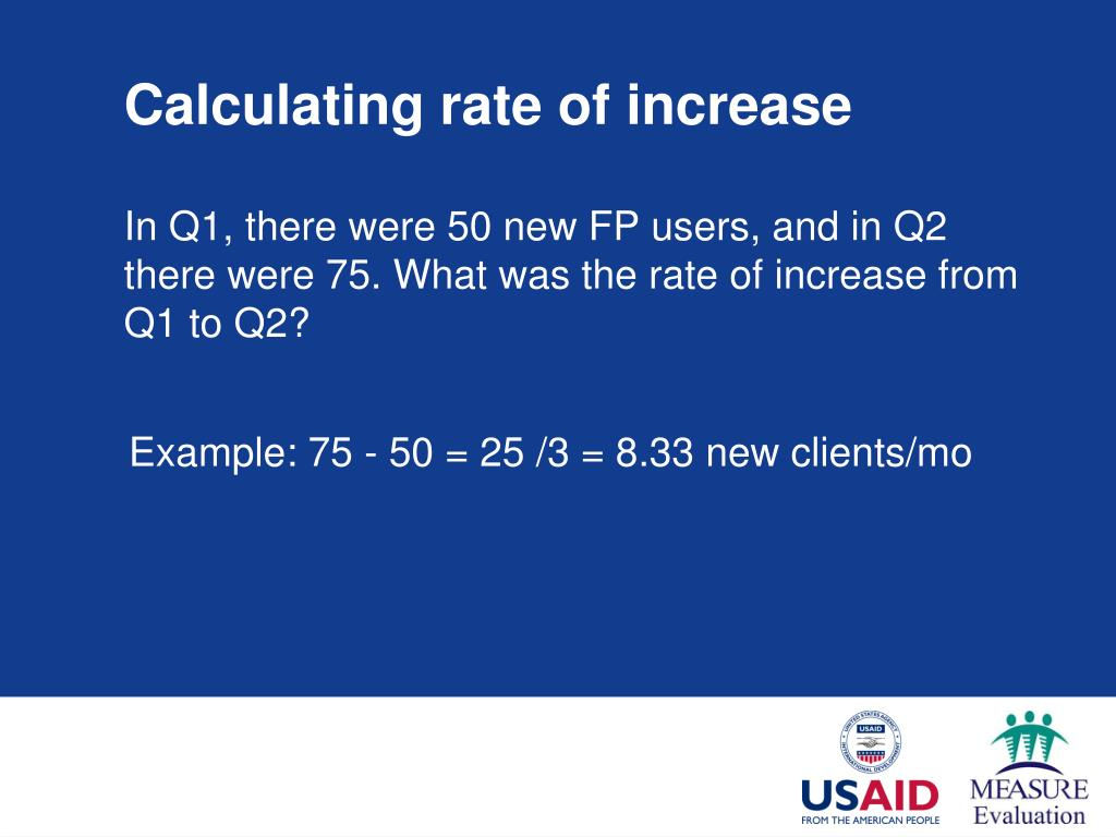 Calculating rate of increase