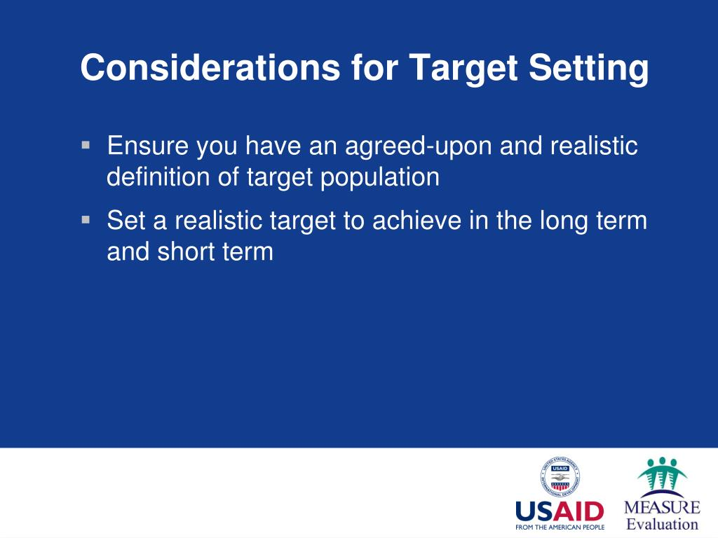 Considerations for Target Setting