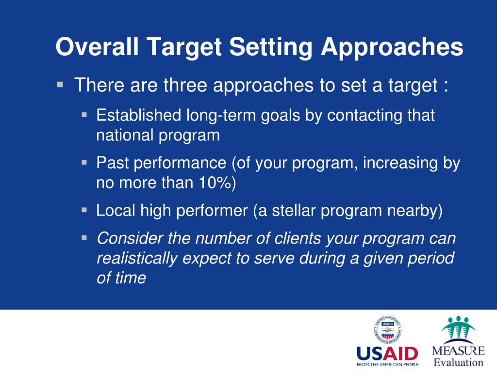 Overall Target Setting Approaches