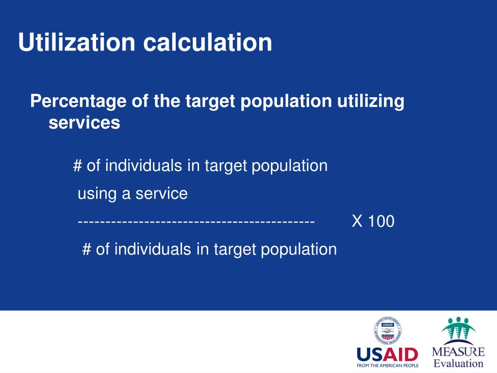 Utilization calculation