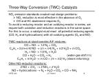 three way conversion twc catalysts