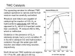 twc catalysts
