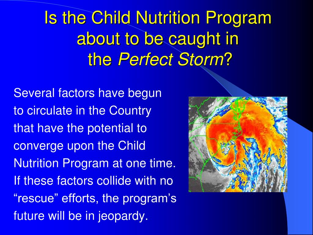Is the Child Nutrition Program about to be caught in