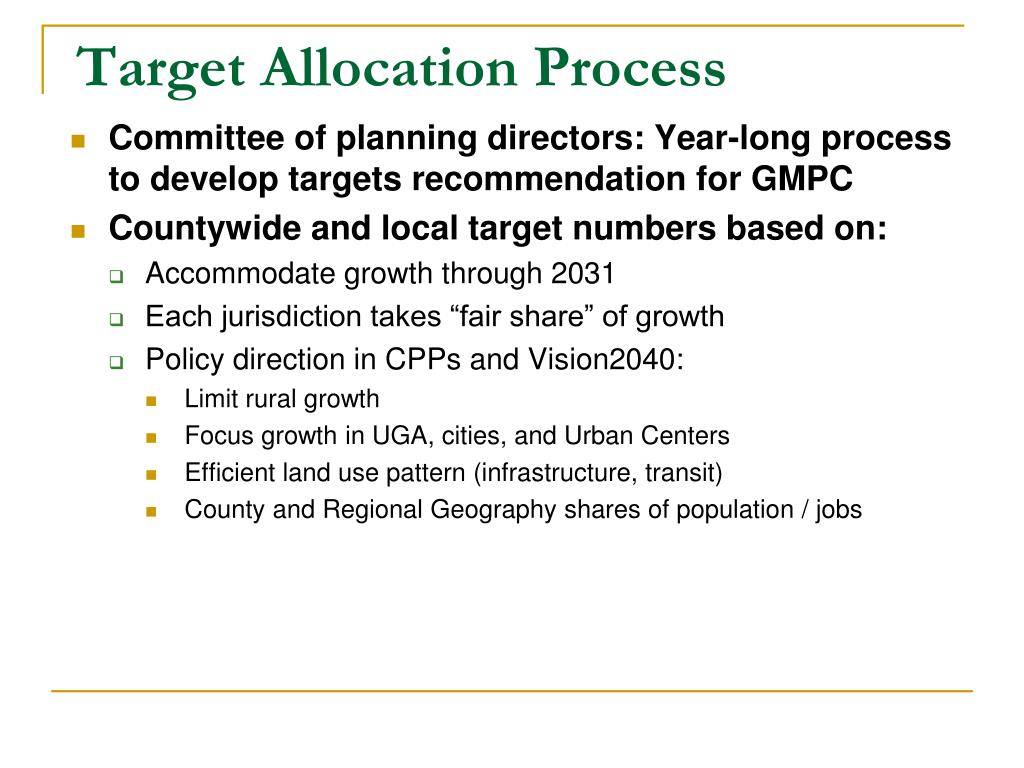 Target Allocation Process