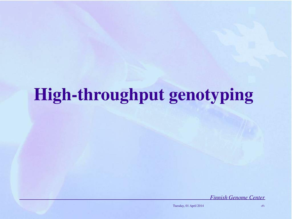 high throughput genotyping l.