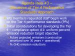 agenda item 3 discussion of tier 4 performance standards approach