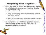 recognizing visual argument