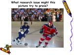 what research issue might this picture try to prove