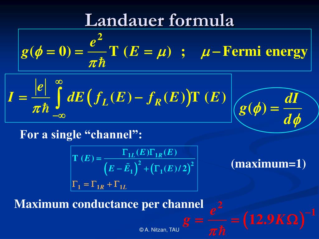 Landauer formula