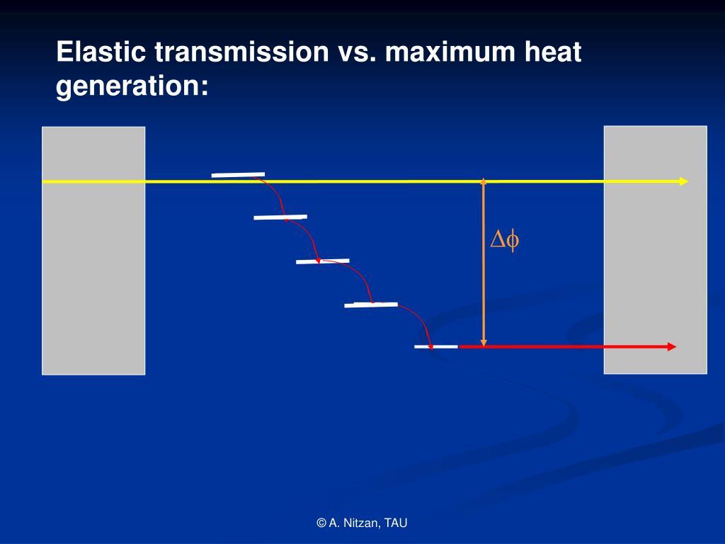 Elastic transmission vs. maximum heat generation: