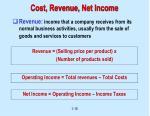 cost revenue net income19