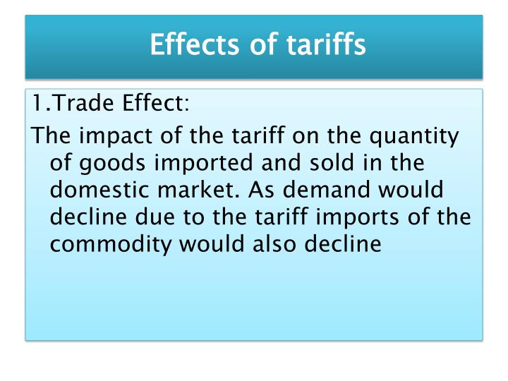 effects of tariffs on imports