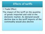 effects of tariffs