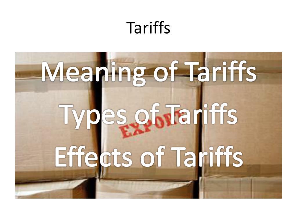 tariffs l.