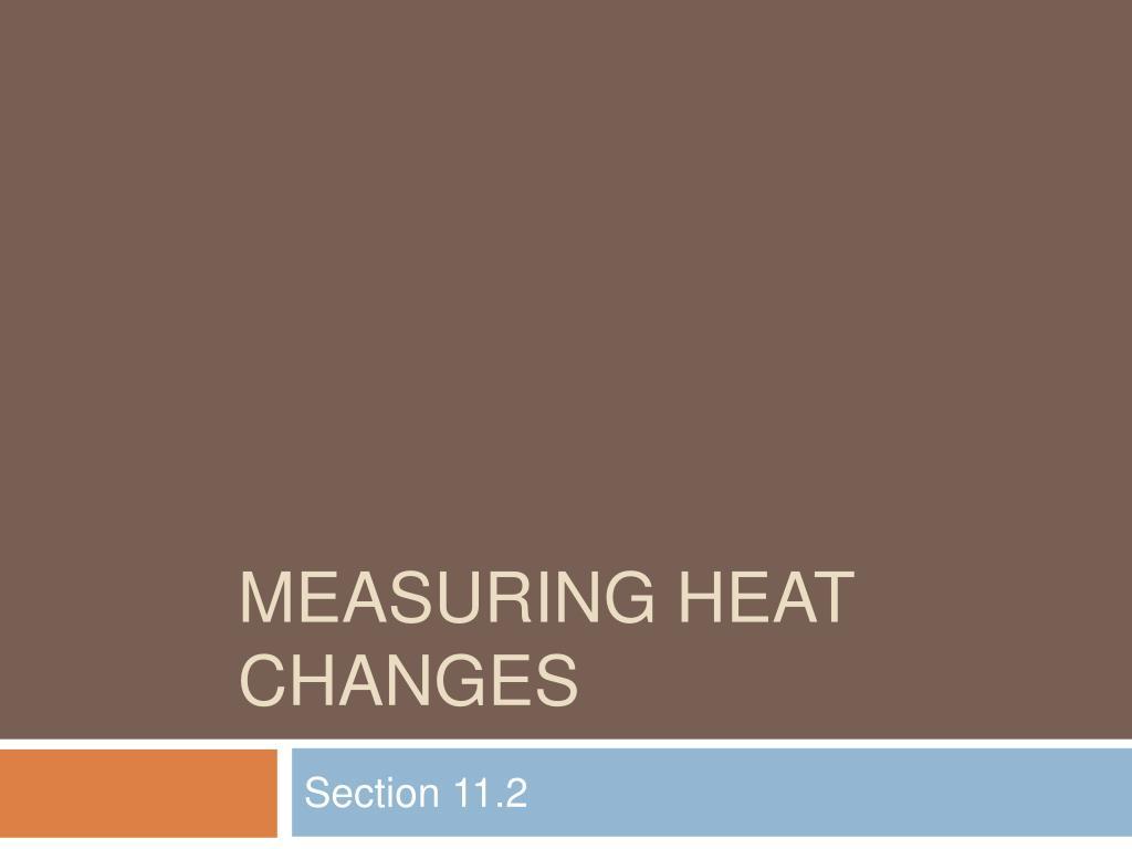 measuring heat changes
