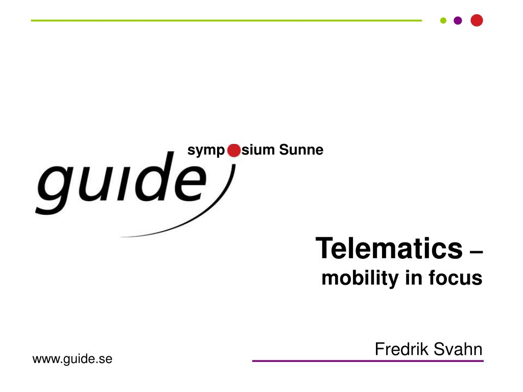 telematics mobility in focus l.