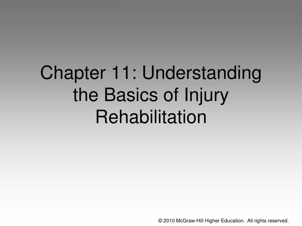 Chapter 11: Understanding the Basics of Injury Rehabilitation