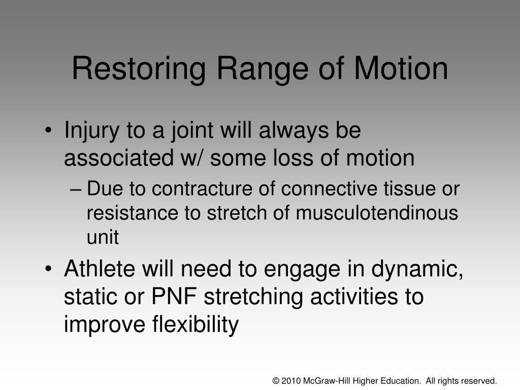 Restoring Range of Motion