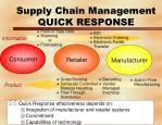 supply chain management quick response