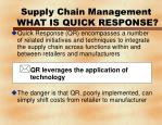 supply chain management what is quick response10