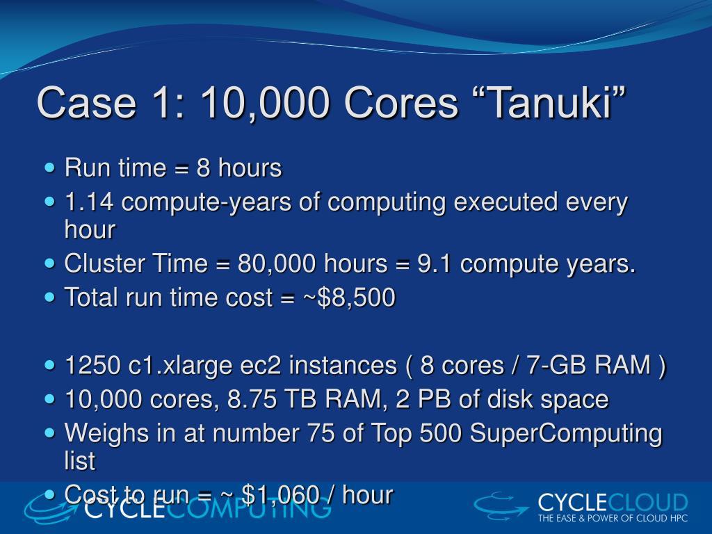 "Case 1: 10,000 Cores ""Tanuki"""