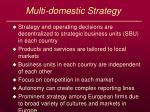 multi domestic strategy