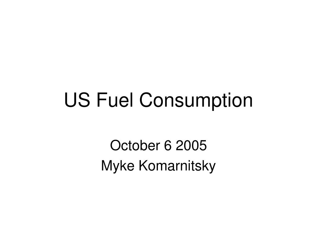 us fuel consumption l.