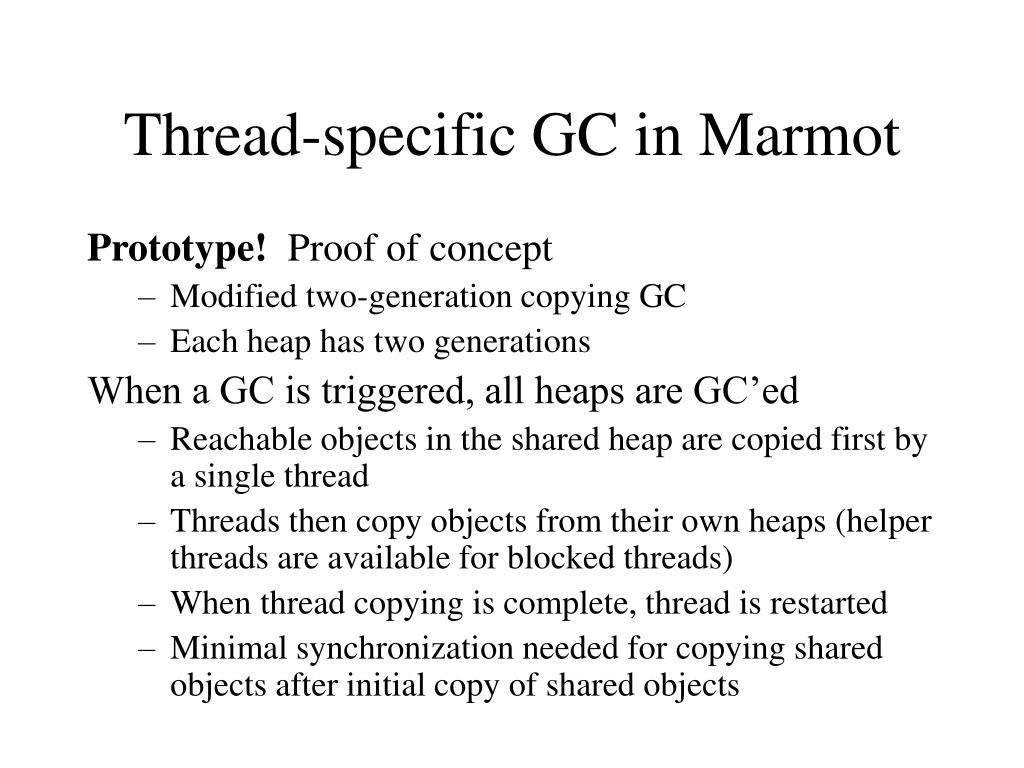 Thread-specific GC in Marmot