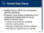 general duty clause