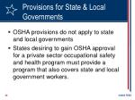 provisions for state local governments