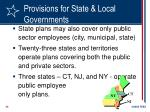 provisions for state local governments23