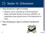 section 10 enforcement