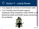 section 11 judicial review