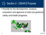 section 2 osha s purpose11