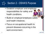 section 2 osha s purpose9