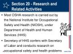 section 20 research and related activities