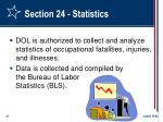section 24 statistics