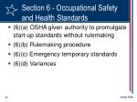 section 6 occupational safety and health standards25