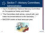 section 7 advisory committees administration