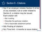 section 9 citations