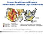 drought conditions and regional thermoelectric generation capacity increases