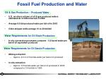 fossil fuel production and water