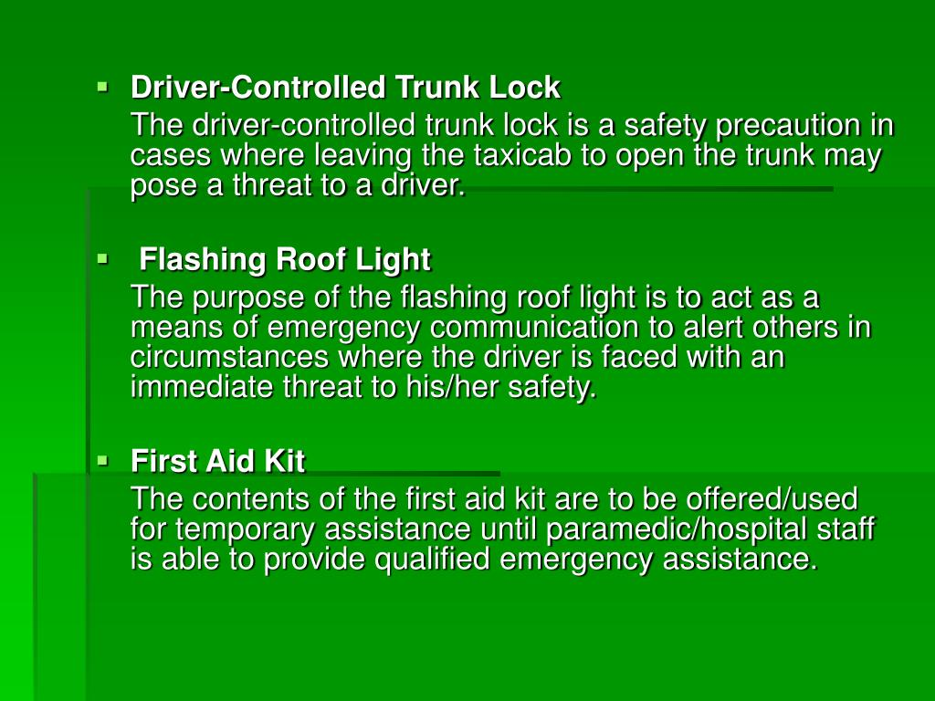 Driver-Controlled Trunk Lock