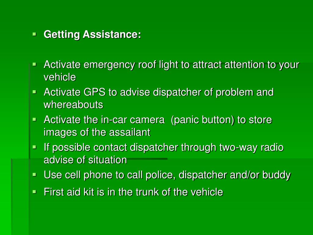 Getting Assistance: