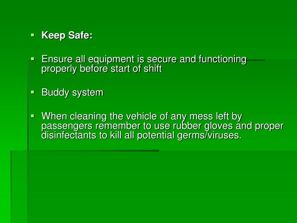 Keep Safe: