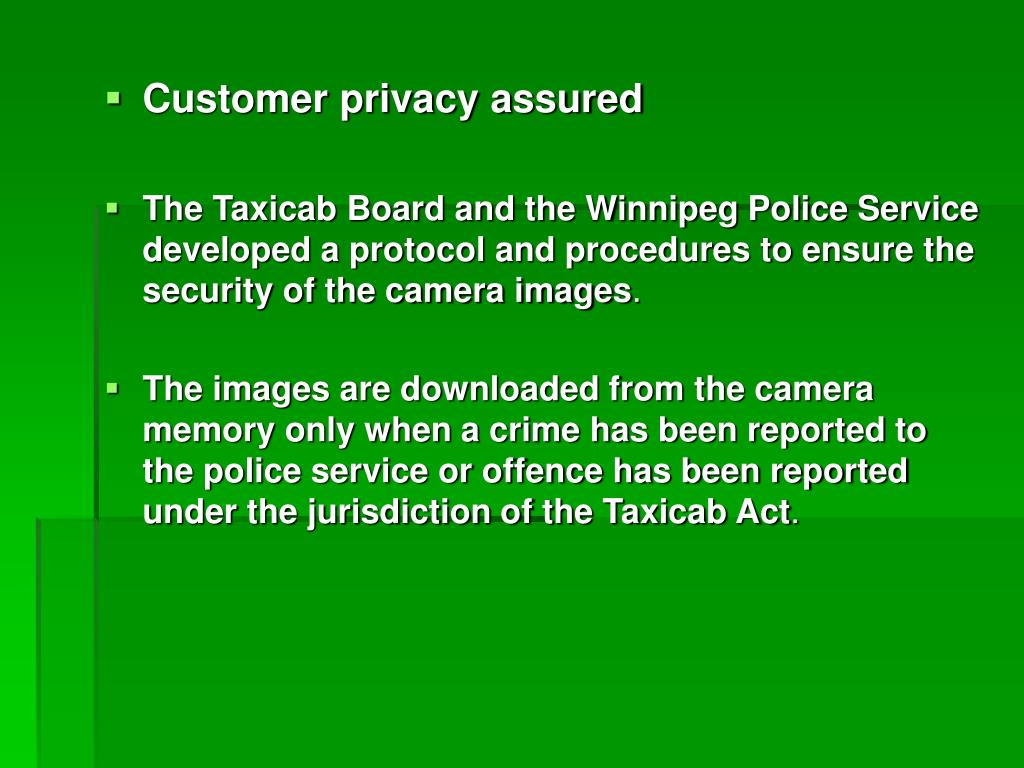 Customer privacy assured
