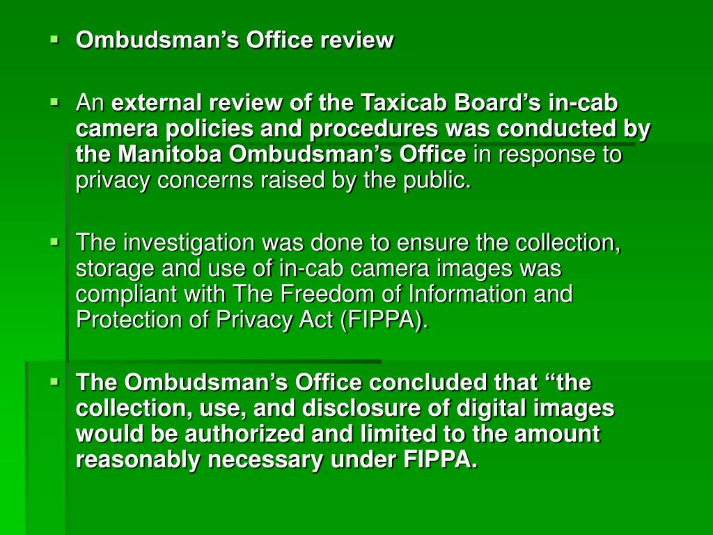 Ombudsman's Office review