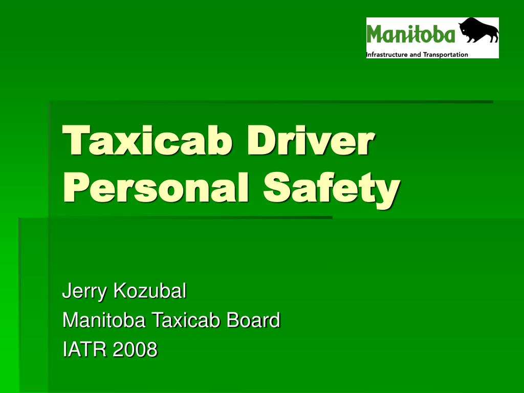 taxicab driver personal safety l.
