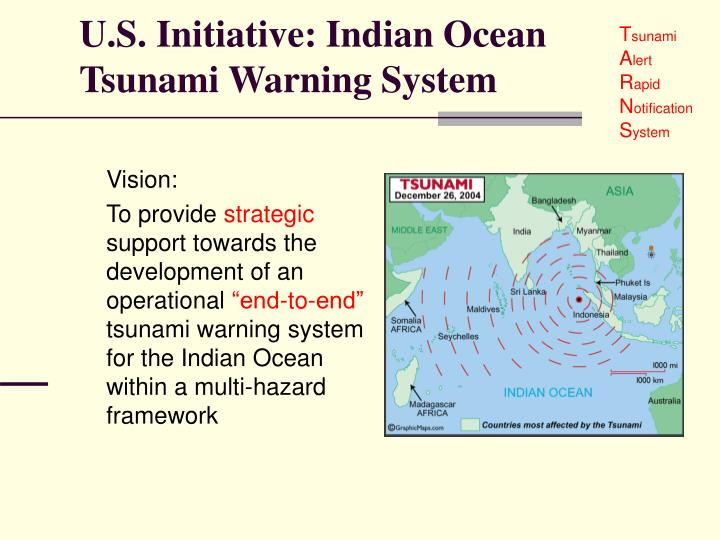 U s initiative indian ocean tsunami warning system