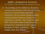 aam v kirkpatrick analysis no violation of due process and equal protection